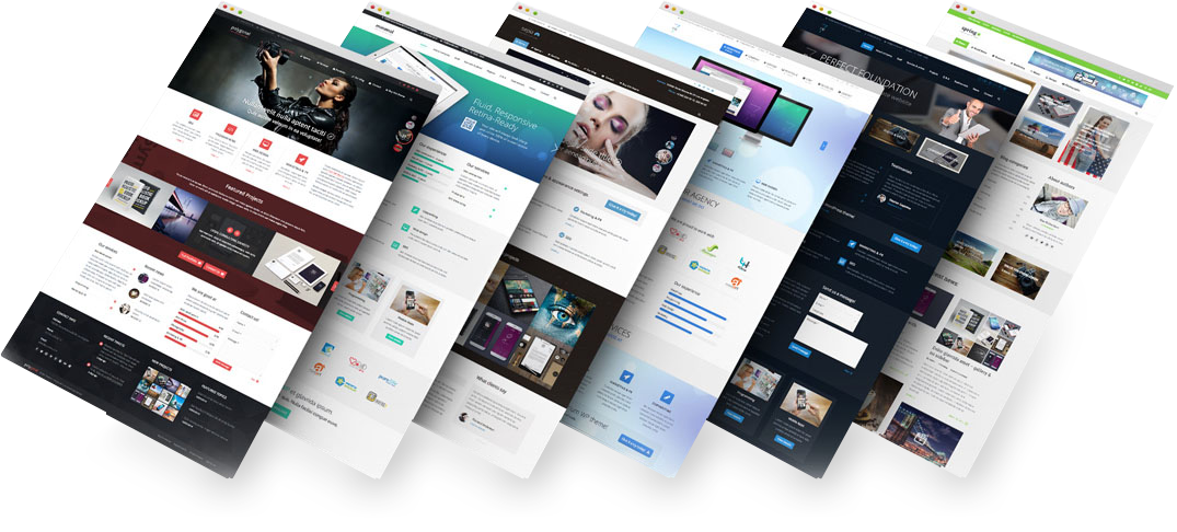 RESPONSIVE AND EDITABLE TEMPLATES FOR SALE